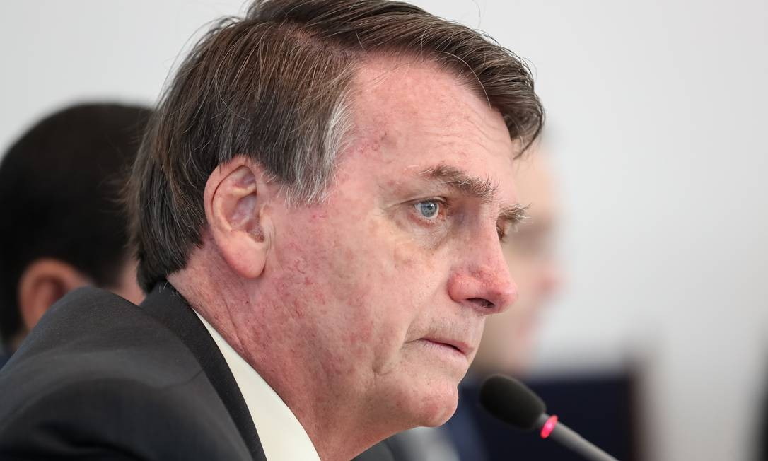 O presidente Jair Bolsonaro na reunião do conselho do governo Foto: Marcos Corrêa/PR