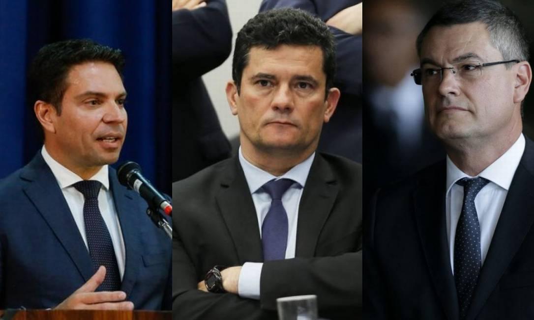 Ramagem, Moro e Valeixo Foto: Agência O Globo