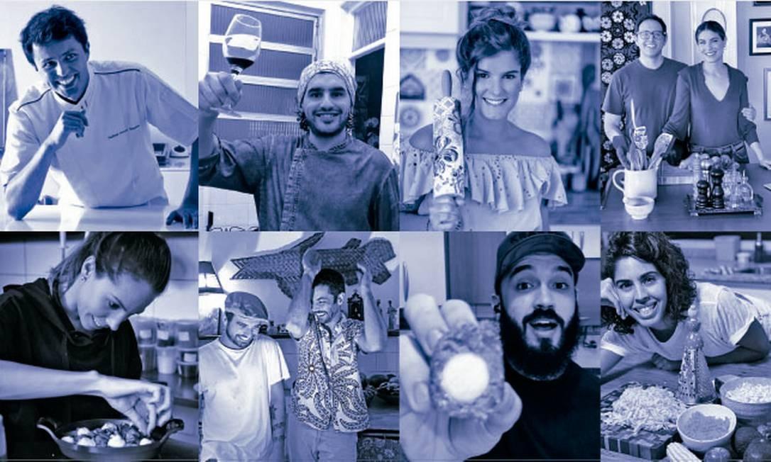 Chefs fazem lives com receitas ao vivo e a cores Foto: Divulgação