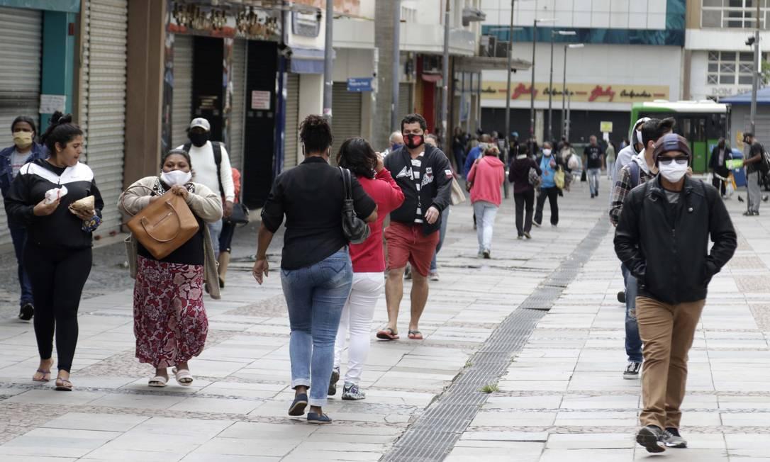 Estudo pretende estimar contágio de Covid-19 nas ruas do país Foto: Código 19 / Agência O Globo
