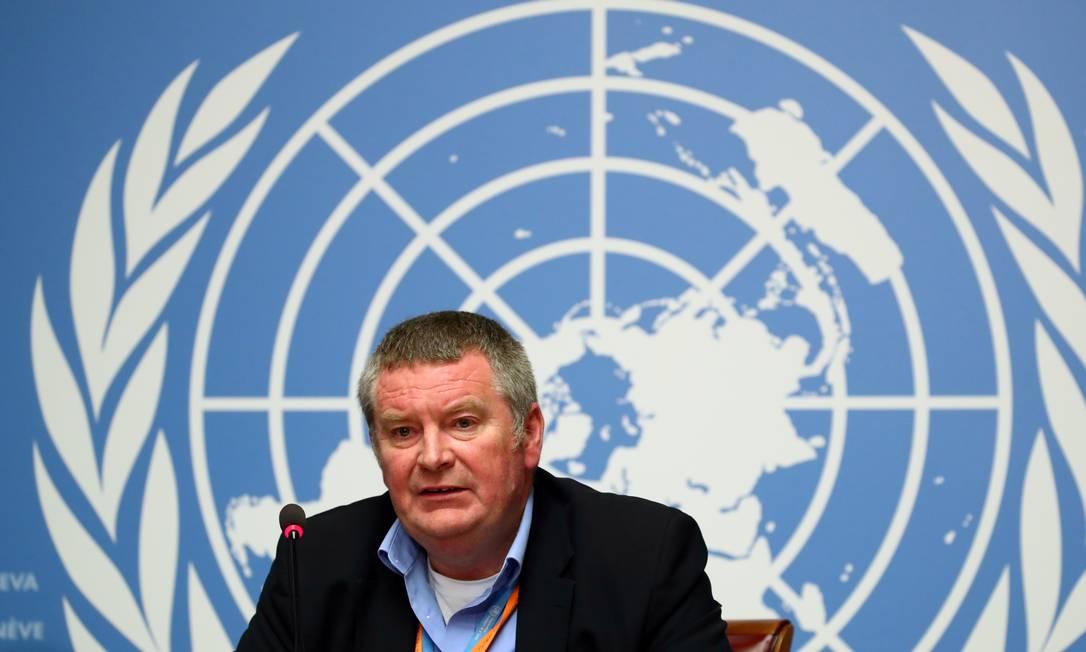 Mike Ryan, diretor de emergências da OMS Foto: Denis Balibouse / REUTERS