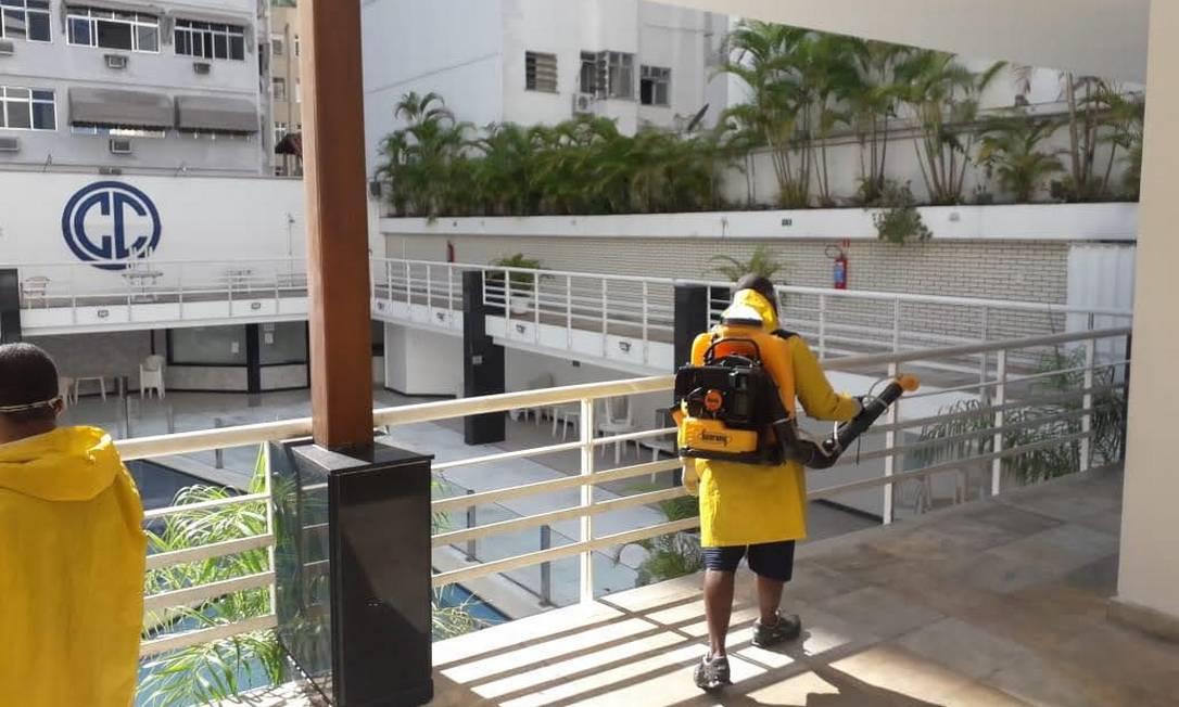 Instalações do Clube Central passam por sanitização Foto: Divulgação