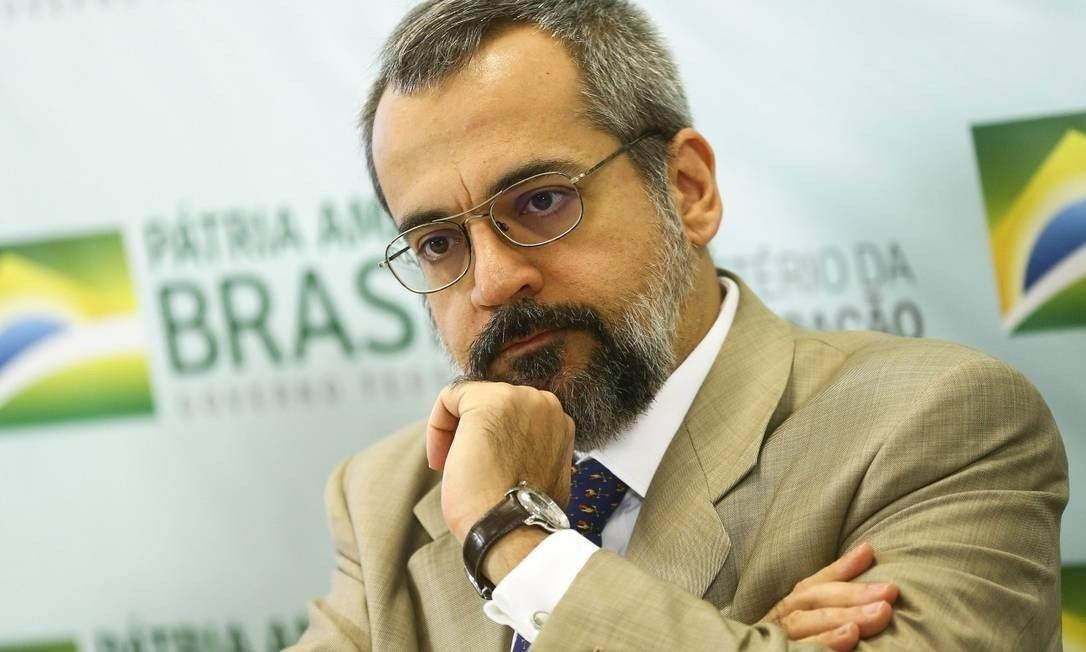 O ministro da Educação, Abraham Weintraub Foto: Marcelo Camargo/Agência Brasil