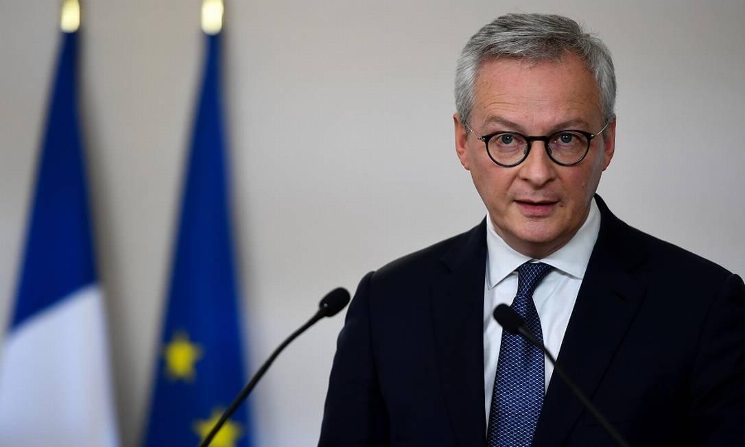 Le Maire, ministro francês das Finanças: imposto 'legítimo e necessário' Foto: CHRISTOPHE ARCHAMBAULT / AFP