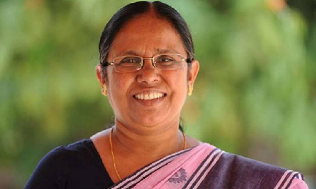Experiência de Shailaja com outros vírus que circularam no país foi crucial para o sucesso com a Covid-19 Foto: Mathrubhumi