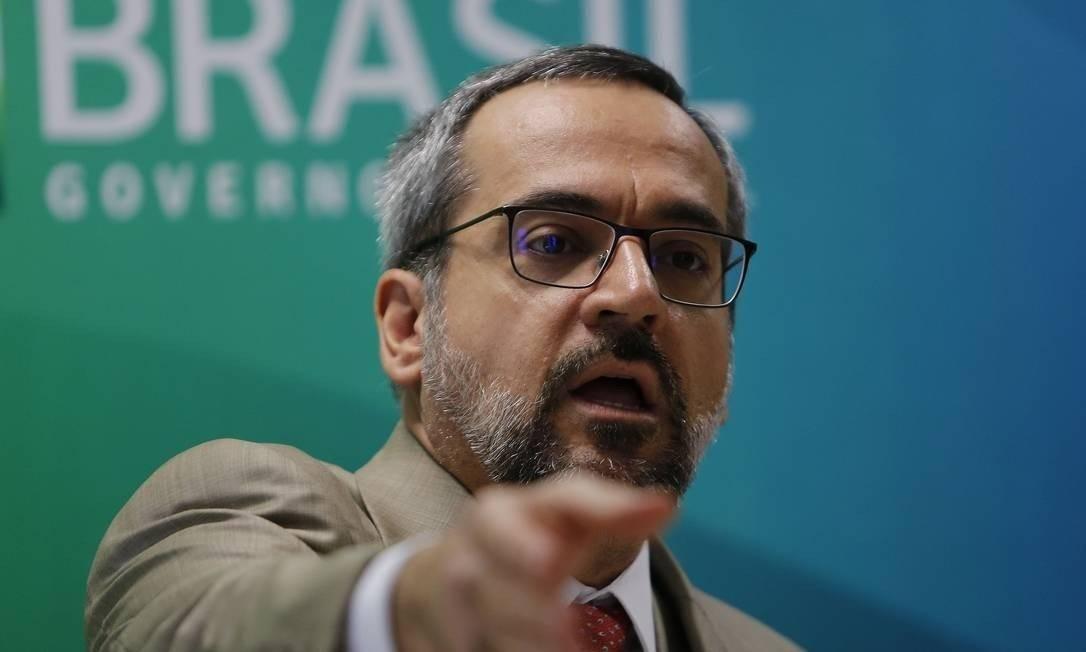 O ministro da Educação, Abraham Weintraub Foto: Jorge William/Agência O Globo