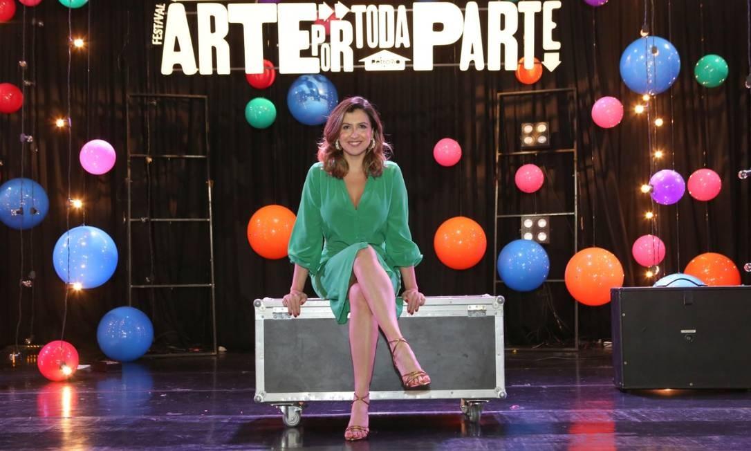 Oficina. Tatiana Trinxet no palco do Teatro PetroRio das Artes, em festival patrocinado pela empresa Foto: Divulgação/Reginaldo Teixeira