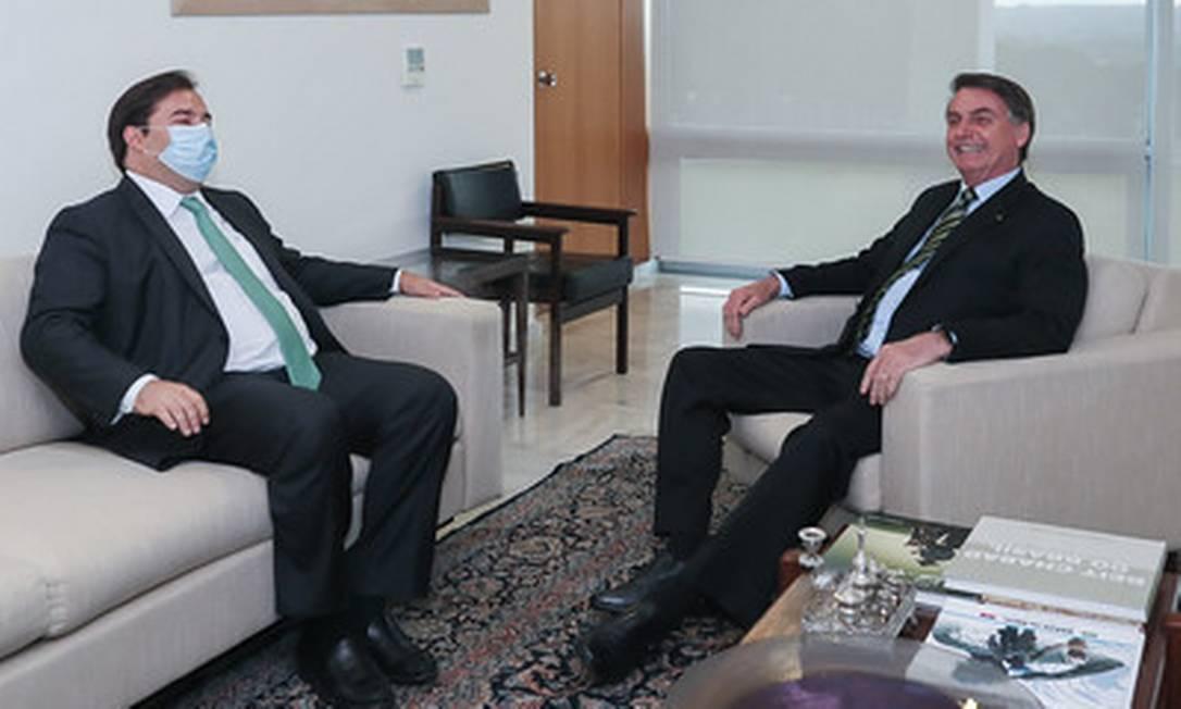 O presidente da Câmara se reúne com Bolsonaro no Palácio do Planalto 14/05/2020 Foto: Isac Nóbrega/ Divulgação