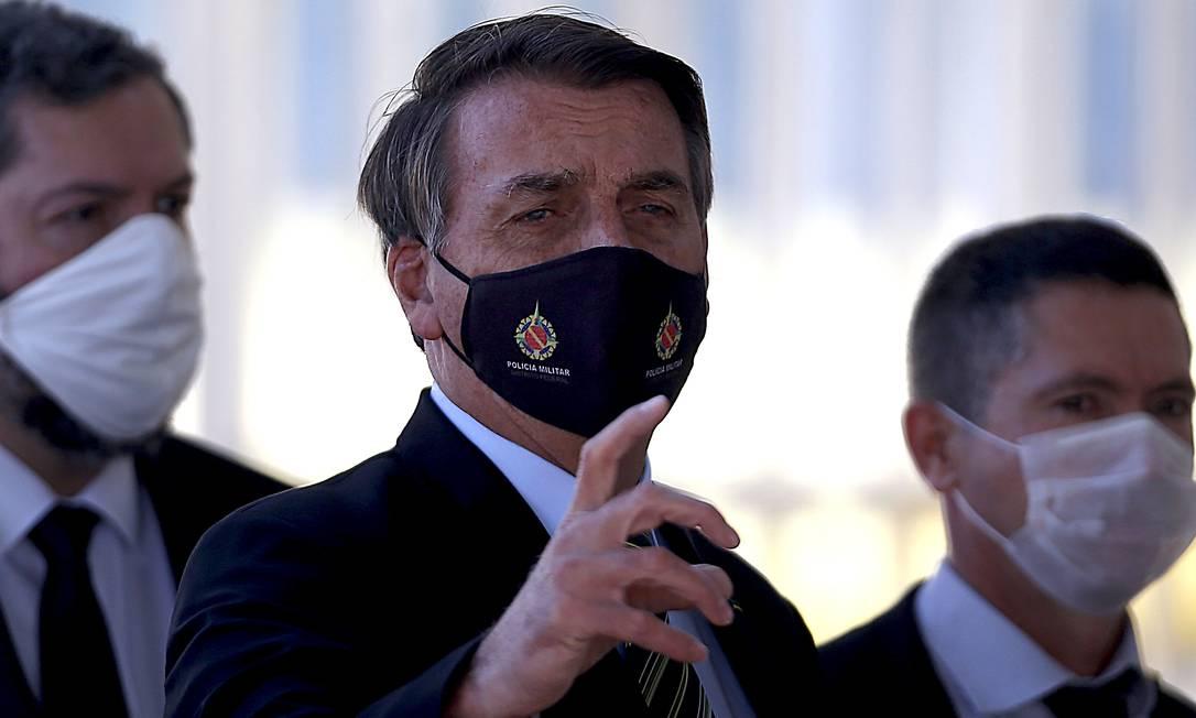 Bolsonaro defende fim das medidas de isolamento contra o novo coronavírus Foto: Jorge William / Agência O Globo