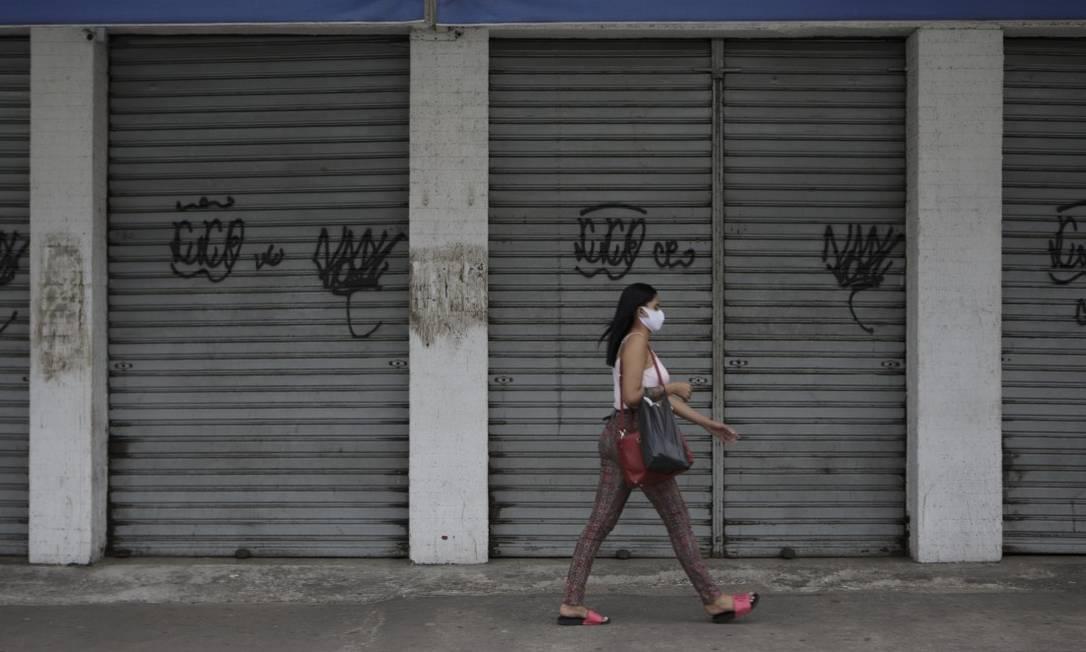Movimento no Rio: em Madureira, medidas da prefeitura surtiram efeito Foto: Alexandre Cassiano / Agência O Globo