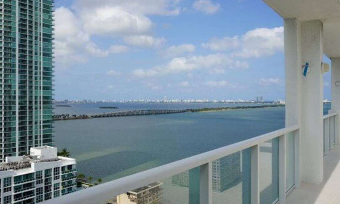 Vista da cobertura do apartamento de Paulo Melo em Miami, nos EUA Foto: Reprodução