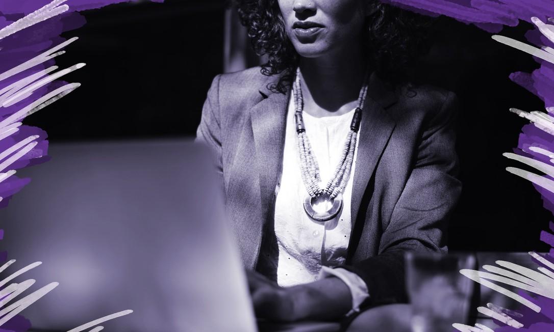 Levandamento da revista Dados, da UERJ, mostrou uma queda na submissão de artigos acadêmicos assinados por mulheres durante a pandemia de coronavírus Foto: Arte sobre foto do Pixabay
