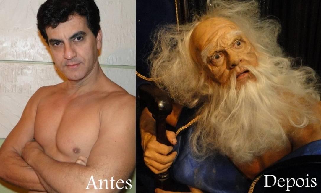 Antes e depois: Ygor Lopes foi maquiado pelo premiado artista Jorge Abreu Foto: Divulgação
