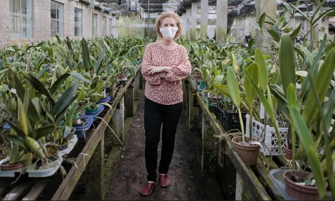 Agnes Altenburg na Florária, no Caramujo: benefício garante a cobertura de 60% da folha de pagamento Foto: Caroline Barcellos / Divulgação