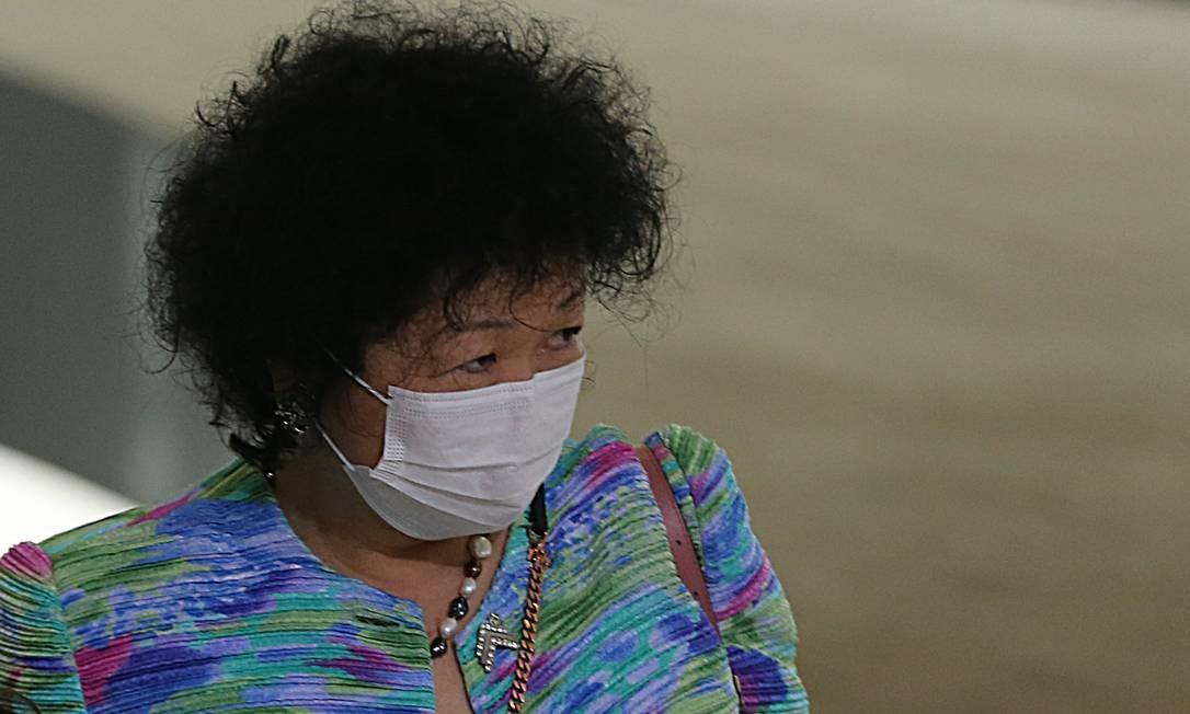 A médica Nise Yamaguchi participa de cerimônia no Palácio do Planalto Foto: Jorge William / Agência O Globo