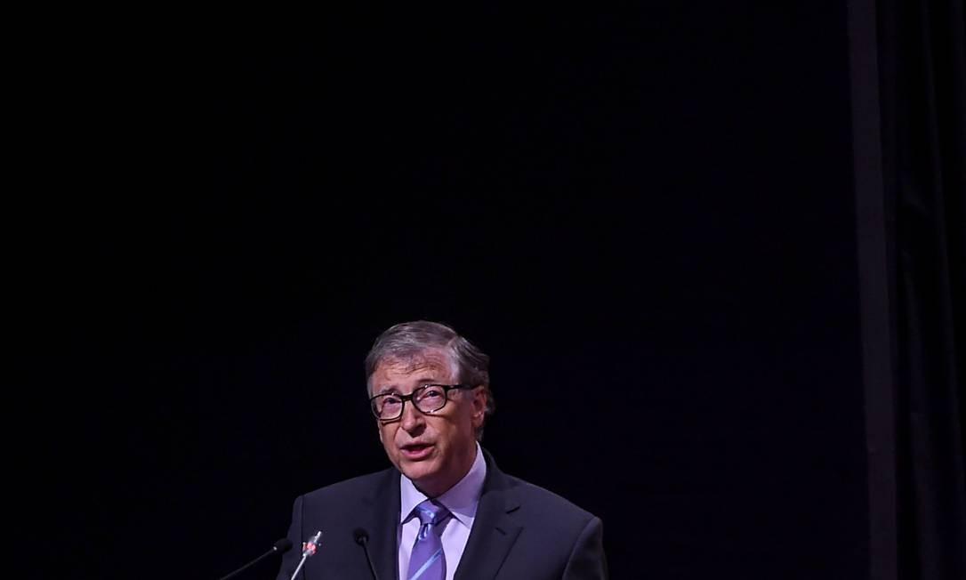 Bill Gates, cofundador da Microsoft e criador da Fundação Bill e Melinda Gates Foto: Money Sharma / AFP
