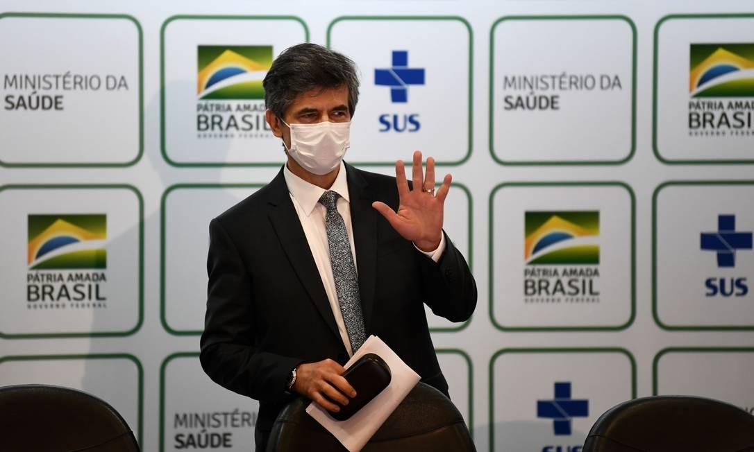 Nelson Teich anuncia que deixa o cargo de ministro da Saúde Foto: EVARISTO SA / AFP