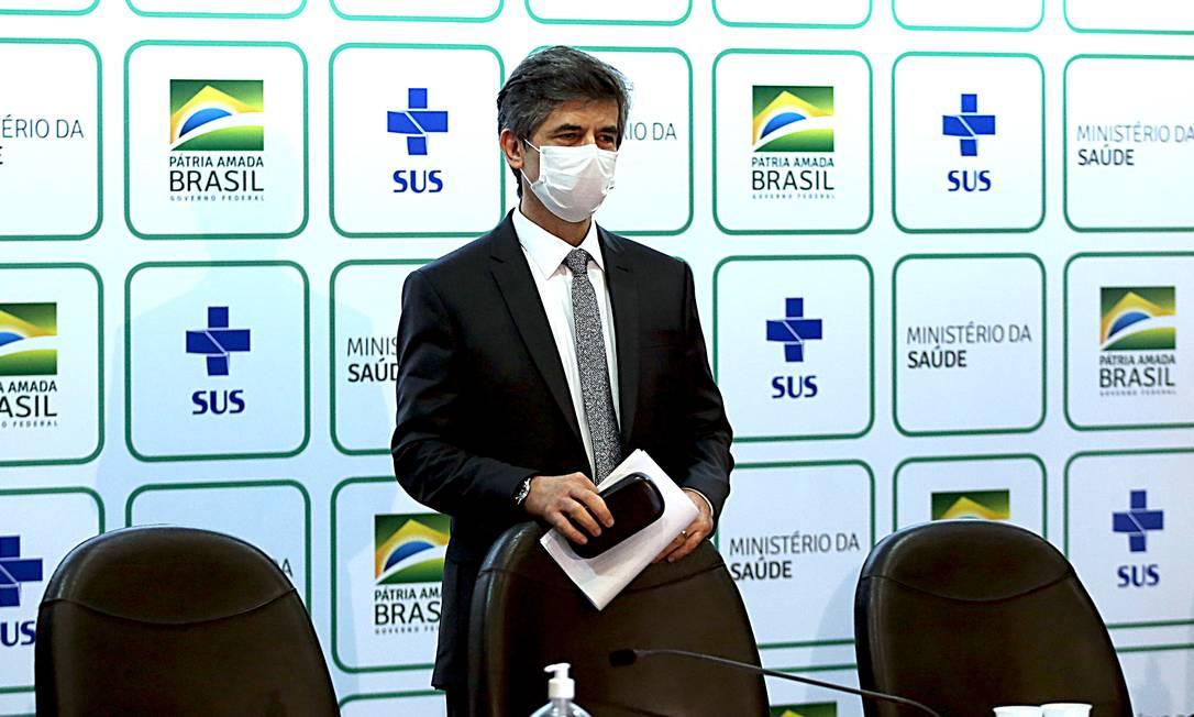 Nelson Teich anuncia que deixa o cargo de ministro da Saúde Foto: Jorge William / Agência O Globo