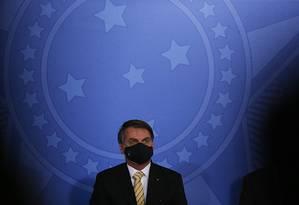O presidente Jair Bolsonaro 15/05/2020 Foto: Jorge William / Agência O Globo