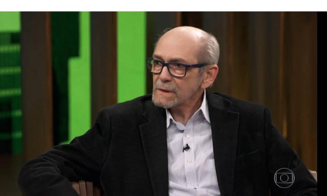 O jornalista e escritor Luiz Maklouf de Carvalho em entrevista ao programa de Pedro Bial em setembro Foto: Reprodução TV Globo / Reprodução TV Globo