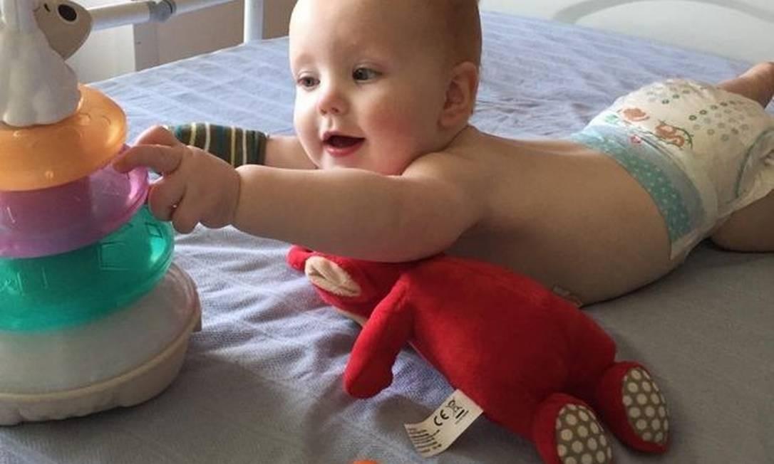 Alexander Parsons, o bebê de oito meses Foto: Reprodução/ Instagram