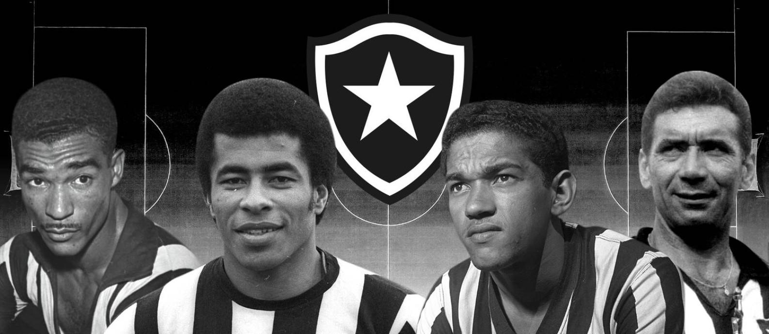 Os maiores ídolos da história do Botafogo Foto: Editoria de Arte