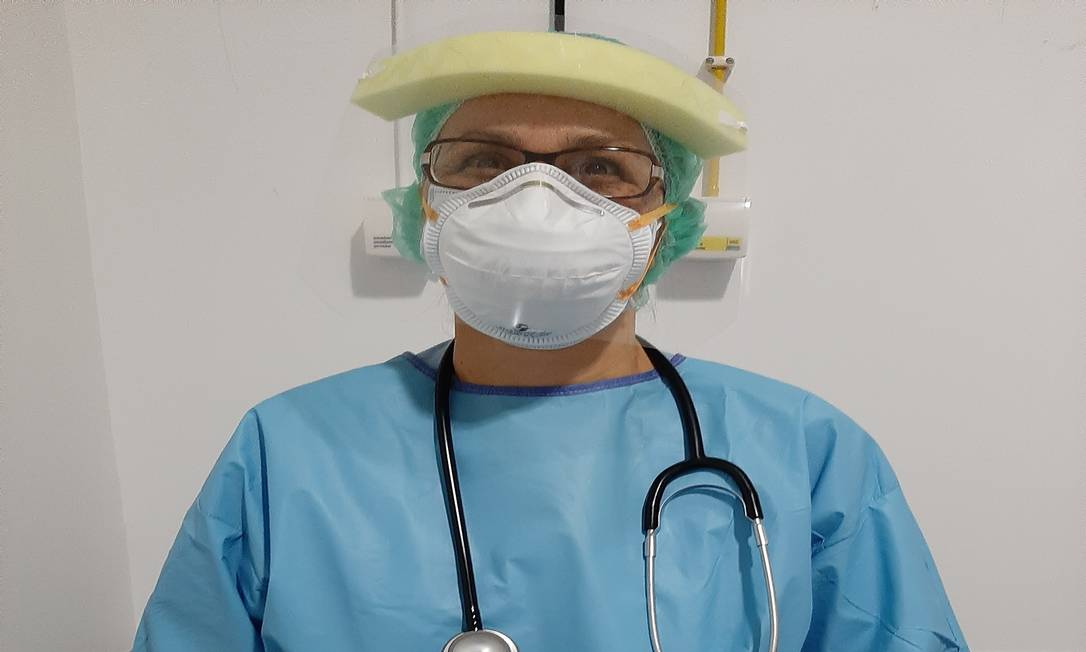 Médica brasileira Nair Almeida Amaral, que atua em hospitais de Lisboa Foto: Arquivo Pessoal