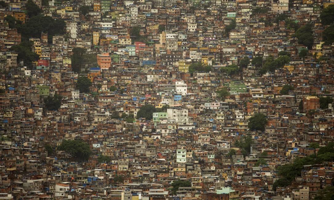 Rocinha tem a maior concentração de domicílios subnormais Foto: Gabriel Monteiro / Agência O Globo