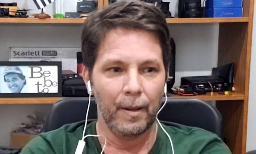 Mario Frias em 2020, em entrevista à CNN Foto: Divulgação
