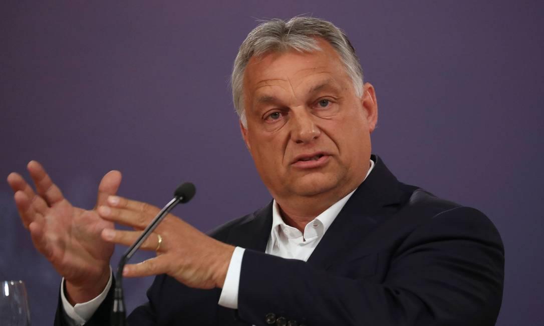 Viktor Orbán, primeiro-ministro da Hungria Foto: Marko Djurica / REUTERS