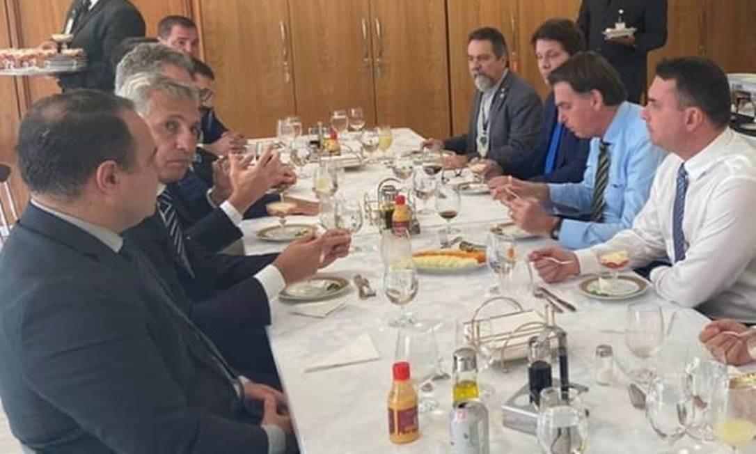Mário Frias participa de almoço com Bolsonaro Foto: Reprodução / Instagram/drtannure