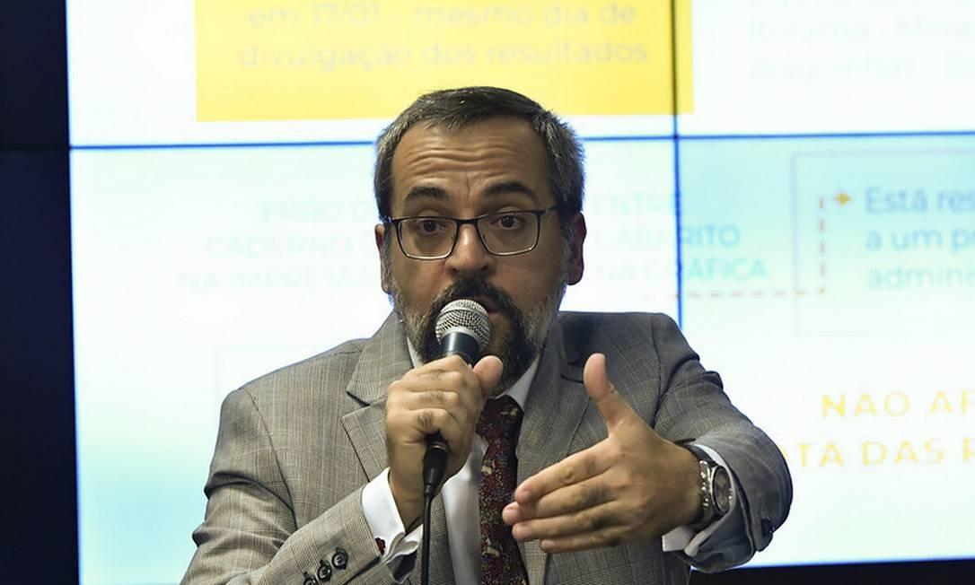 Ministro da Educação, Abraham Weintraub. Foto: Geraldo Magela / Geraldo Magela/Agência Senado