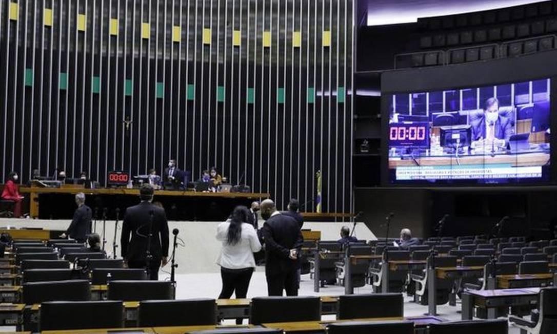 Rodrigo Maia preside sessão da Câmara por videoconferência, durante pandemia do coronavírus 19/05/2020 Foto: Agência O Globo