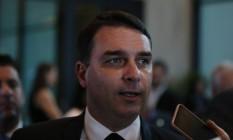 O senador Flávio Bolsonaro (Republicanos-RJ) 06/11/2019 Foto: Pablo Jacob / Agência O Globo
