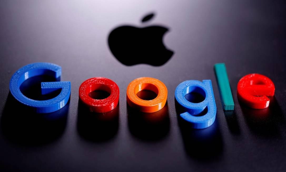 Apple e Google: parceria contra a doença Foto: Dado Ruvic / Reuters