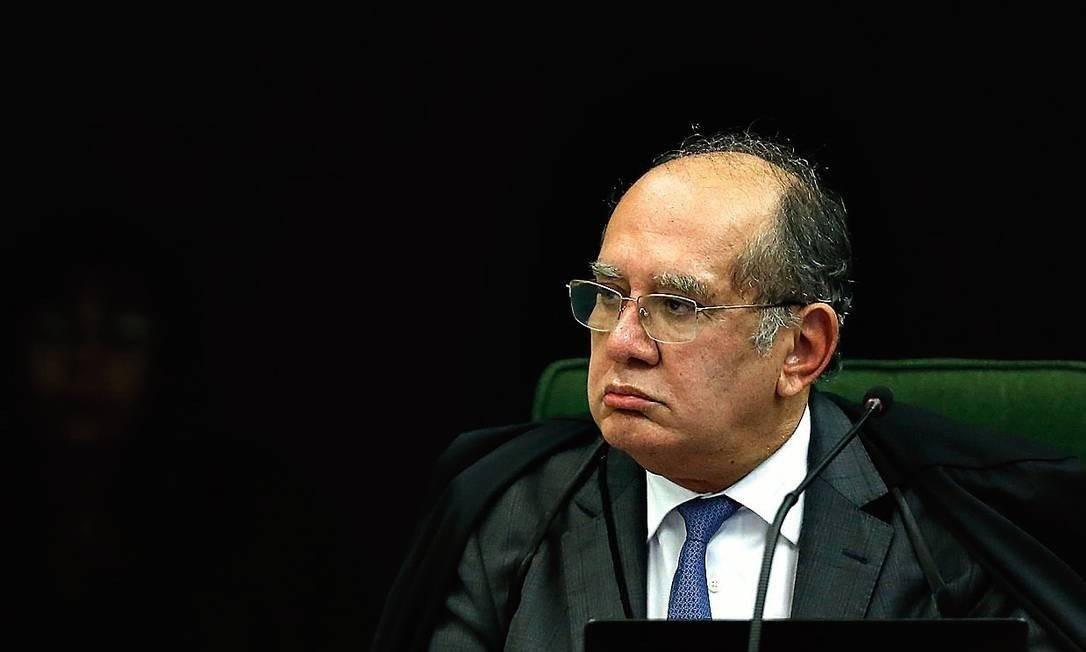Gilmar Mendes falará pela primeira vez publicamente sobre o vídeo da reunião do dia 22 de abril Foto: Jorge William / Agência O Globo
