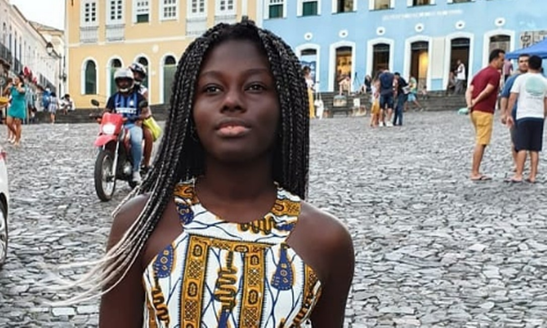 Ndeye Fatou Ndiaye durante viagem a Salvador, na Bahia Foto: Arquivo Pessoal