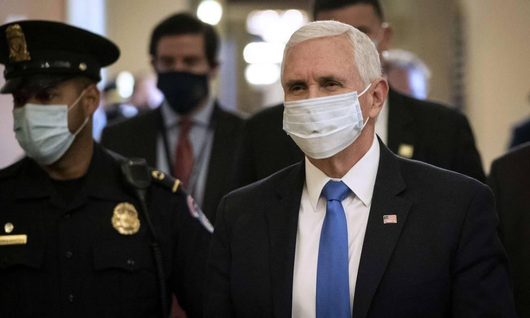 Mike Pence reforçou promessa de restrição de Donald Trump Foto: Drew Angerer / AFP