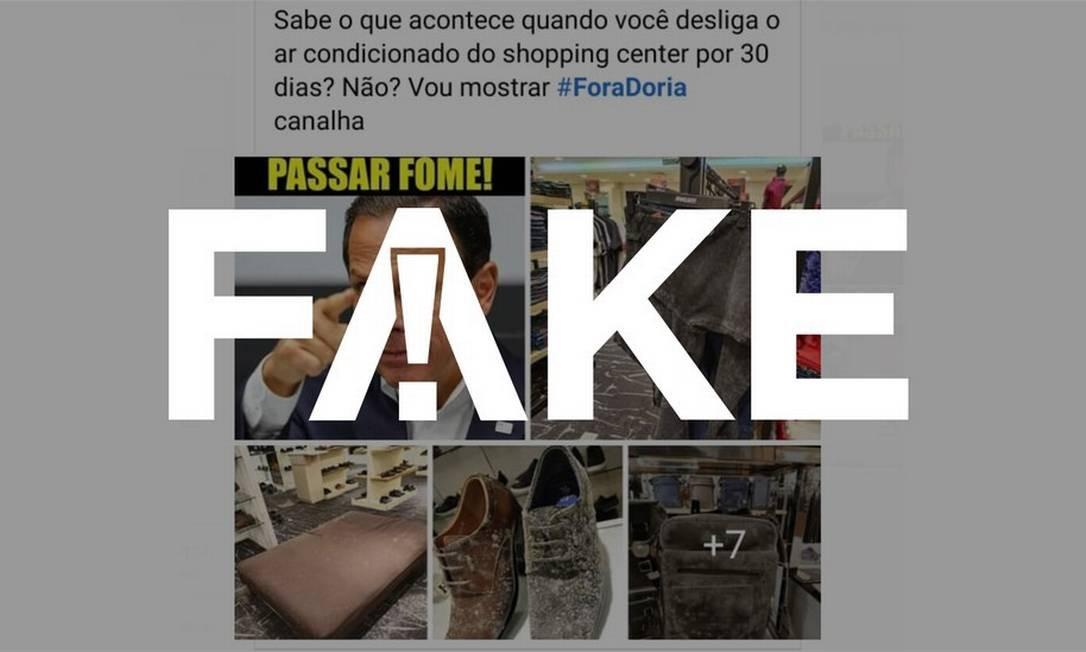 É #FAKE que fotos e vídeos mostrem produtos mofados em shopping de São Paulo durante a quarentena Foto: Reprodução