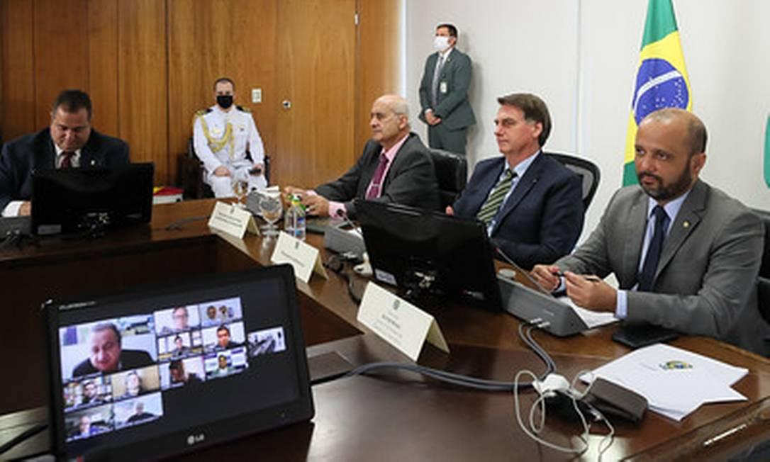 Bolsonaro se reúne em videoconferência com lideranças católicas Foto: Divulgação