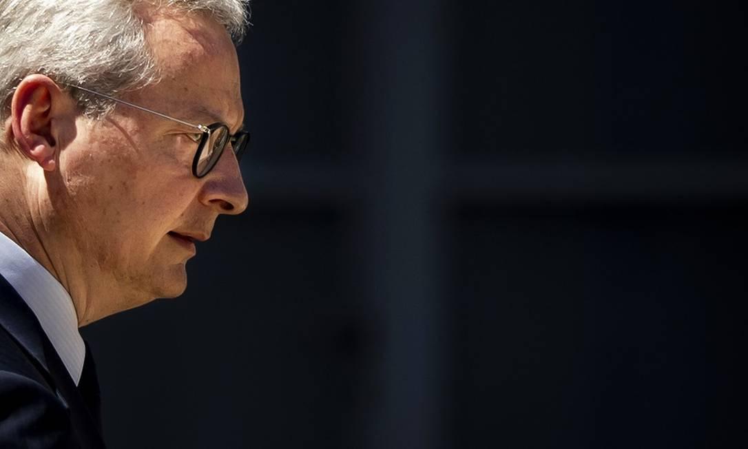 O ministro Bruno Le Maire: alerta sobre efeitos da pandemia na França. Foto: Ian Langsdon / AFP
