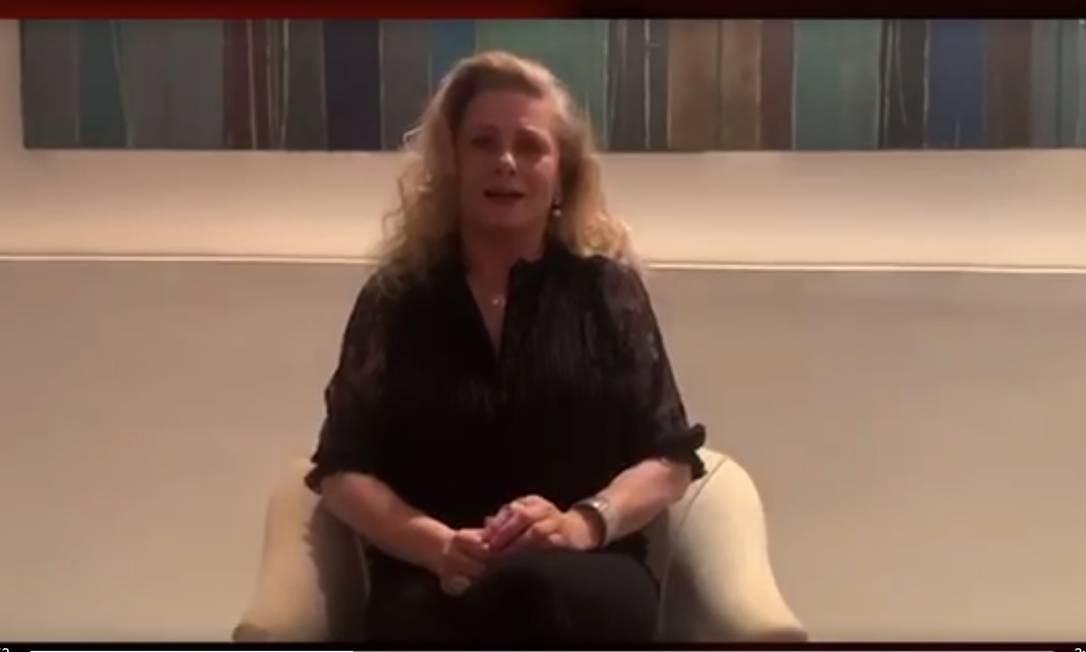 Vera Fischer em vídeo de apoio ao teatro da APTR Foto: Reprodução