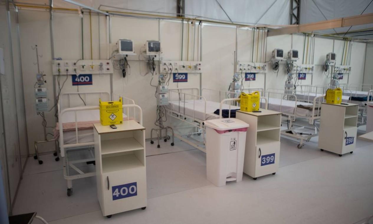 Capacidade total do hospital do Maracanã será de 400 leitos Foto: Alexandre Cassiano / Agência O Globo