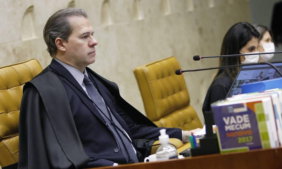 O presidente do STF, Dias Toffoli (21/05/2020) Foto: Divulgação