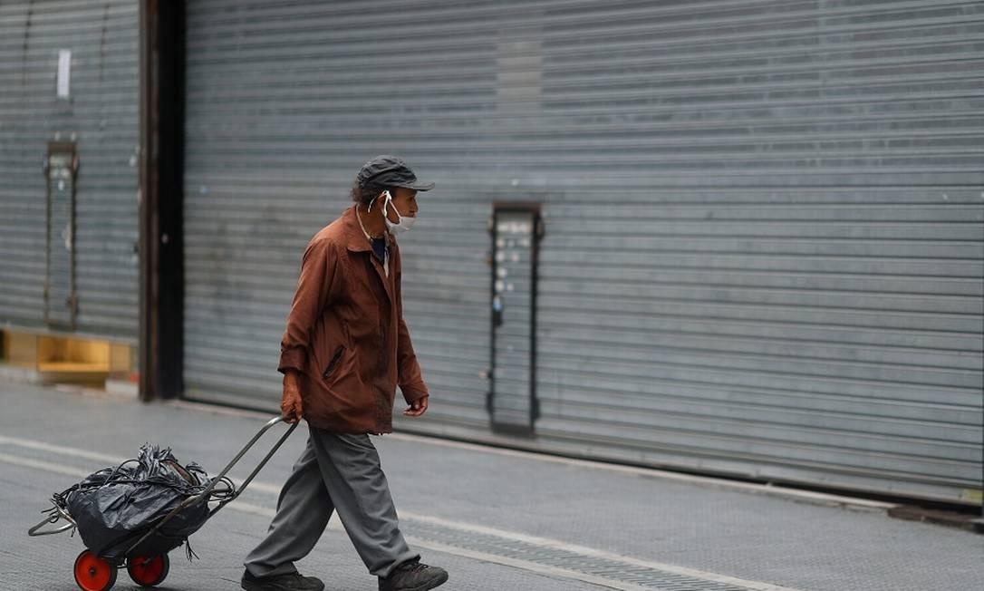 Lojas fechadas em Buenos Aires, Argentina. Foto: AGUSTIN MARCARIAN / REUTERS