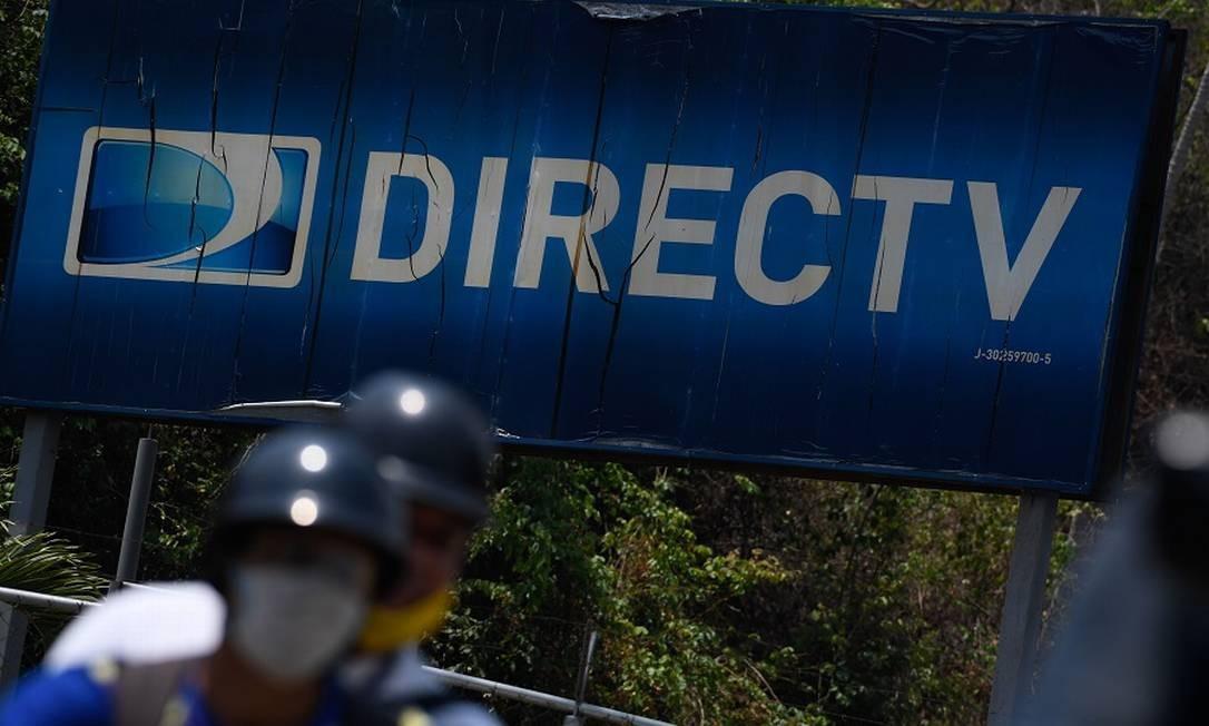 DirecTV em Caracas: apreensão de equipamentos. Foto: FEDERICO PARRA / AFP