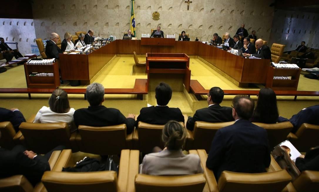 Sessão do Supremo Tribunal Federal comandada pelo ministro Dias Toffoli Foto: Jorge William / Agência O Globo
