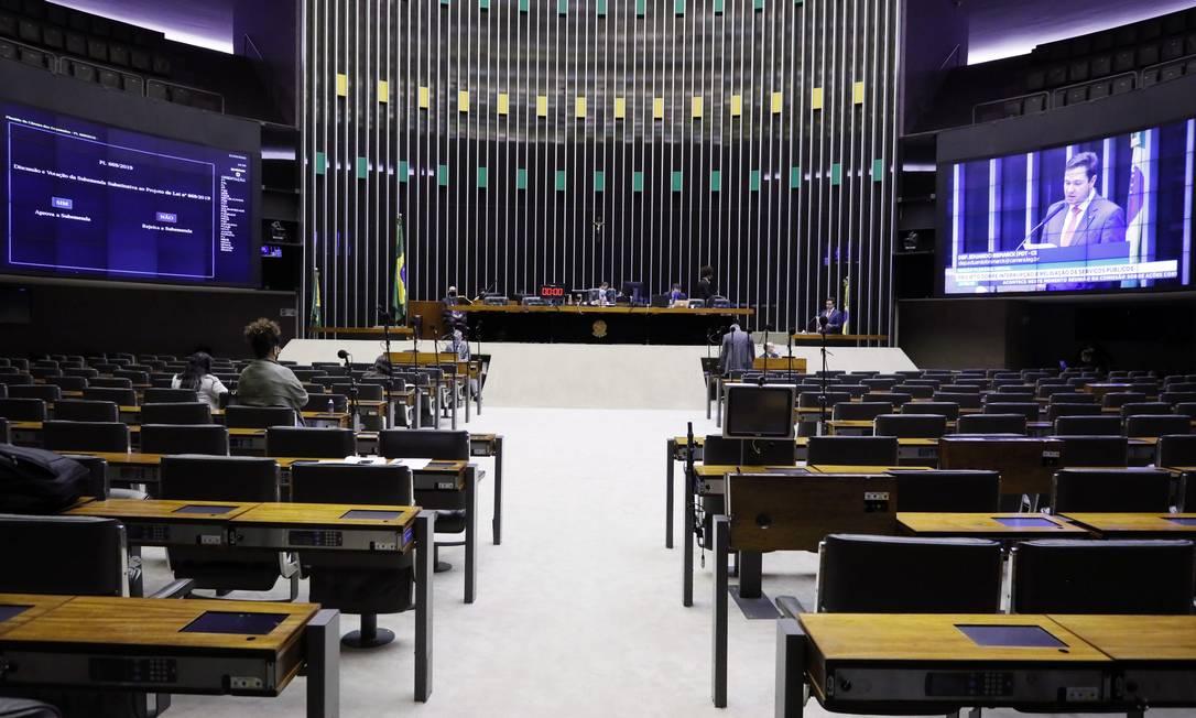 Câmara dos Deputados aprovou regras extraordinárias para falências e processos de recuperação judicial durante pandemia Foto: Agência O Globo