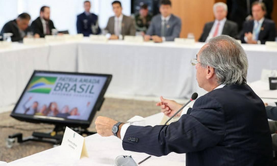 Paulo Guedes participa da reunião ministerial do dia 22 de abril Foto: Marcos Correa / divulgação