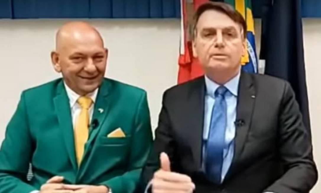 Jair Bolsonaro e Luciano Hang Foto: Reprodução